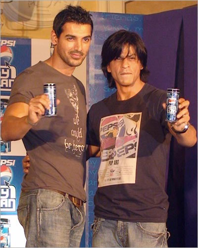Shah Rukh Khan with John Abraham