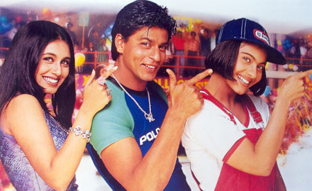 Rani Mukerji, Shah Rukh Khan and Kajol in Kuch Kuch Hota Hai