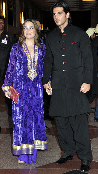 Zayed Khan and Mallika