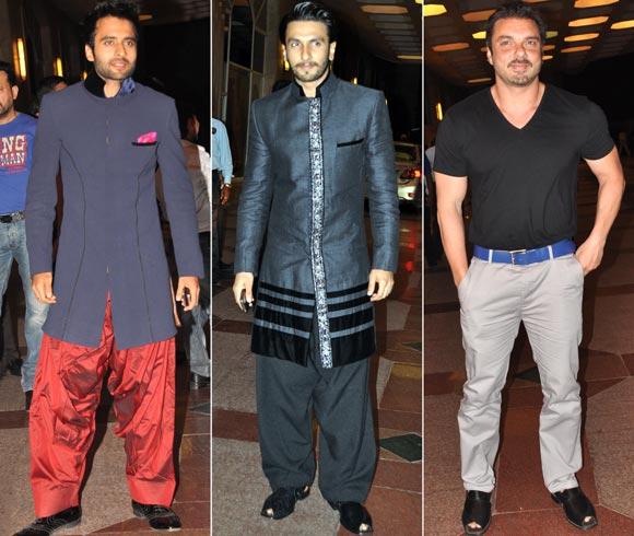 Ranveer Singh, Jackie Bhagnani and Sohail Khan
