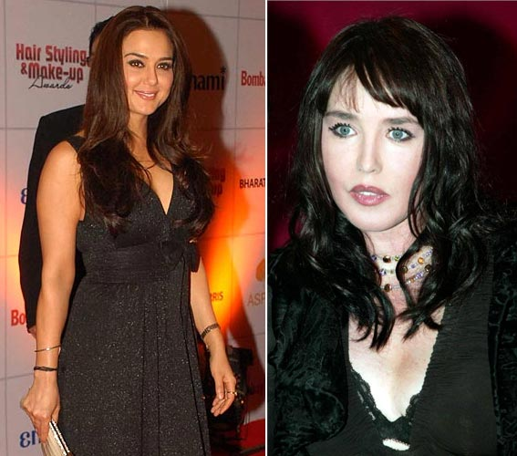 Preity Zinta and Isabella Adjani