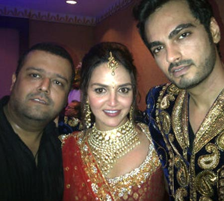 Esha Deol and Bharat Takhtani (right) with a friend