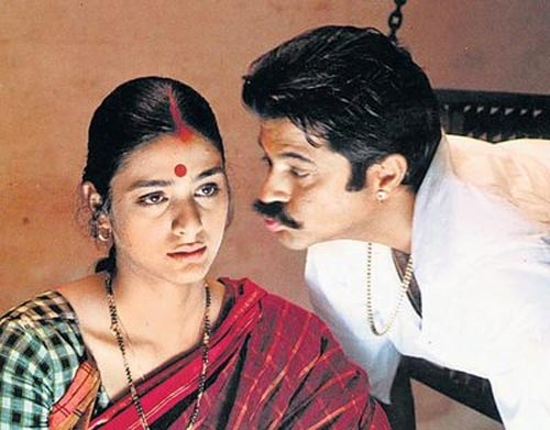Tabu and Anil Kapoor in Virasat