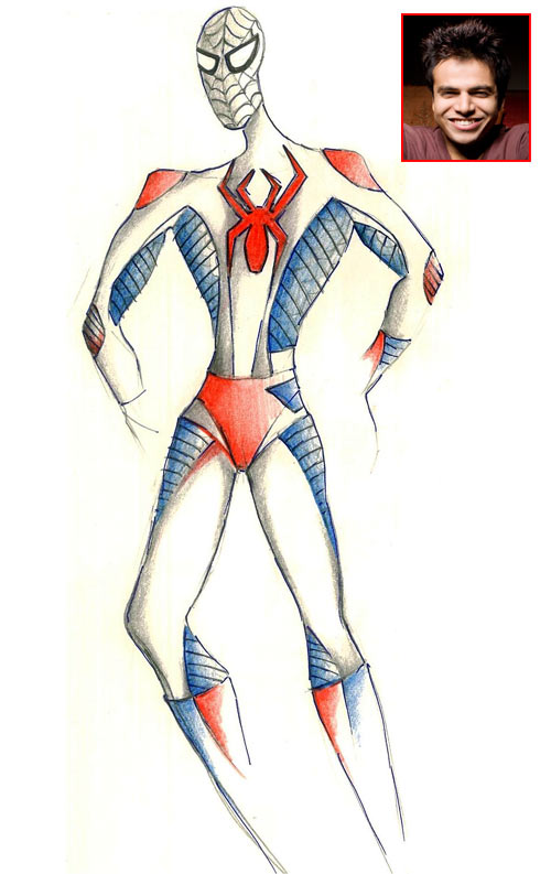 Spider-Man suit, designed by Rick Roy