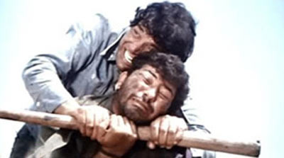 Dharmendra and Amjad Khan in Sholay