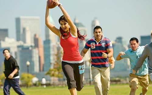 Katrina Kaif and John Abraham in New York