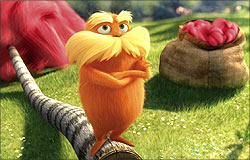 A scene from The Lorax