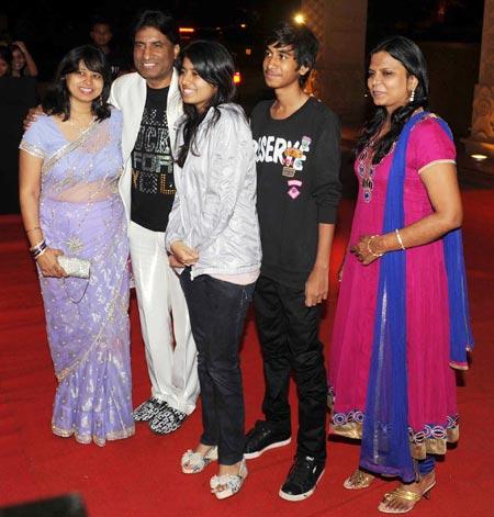Raju Srivastav and family