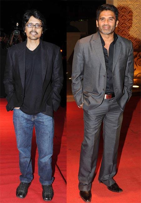 Nagesh Kuknoor and Suniel Shetty