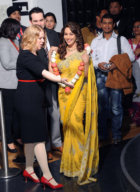 Madhuri Dixit is welcomed at the Madame Tussauds