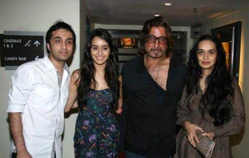 Siddhant Kapoor, Shraddha Kapoor, Shakti Kapoor and Shivangi Kapoor