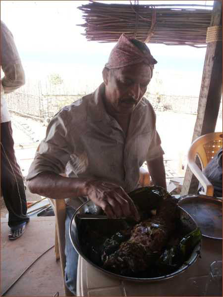 Nana Patekar checks the fish