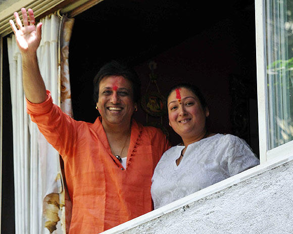 Govinda and wife Sunita