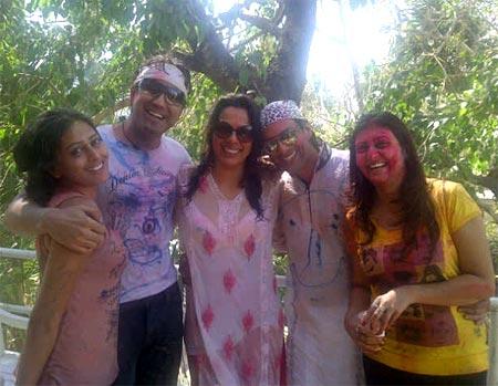 Nidhi Subbaiah, Karan Oberoi, Pooja Bedi and Sky