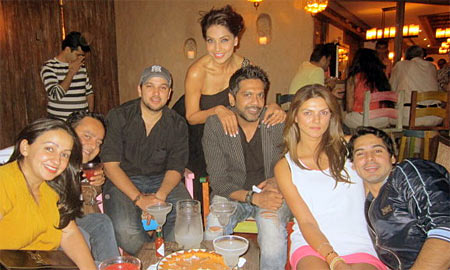 Bipasha Basu, Rocky S, Nandita Mahtani and Dino Morea with their friends