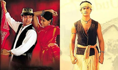 Aamir Khan in 1947: Earth (left) and Lagaan
