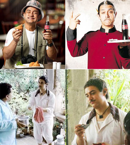 Aamir Khan in Coca Cola ads