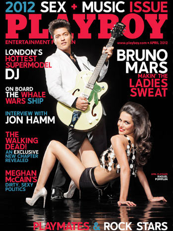 Bruno Mars on Playboy cover