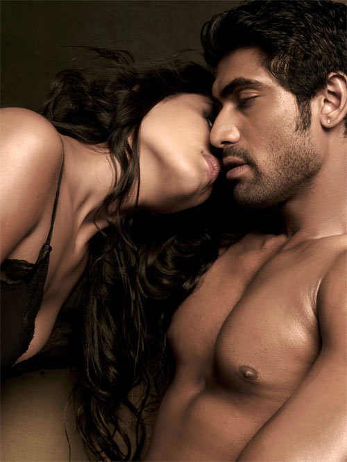 Rana Daggubati and Nathalia Kaur in a photo shoot