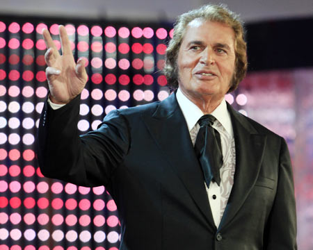 Engelbert Humperdinck performs as guest during the international new singers contest New Wave in Jurmala in July  2010.