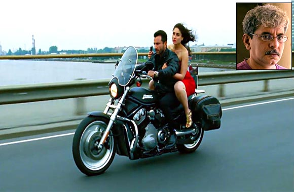 Saif Ali Khan and Kareena in Agent Vinod, inset Sriram Raghvan