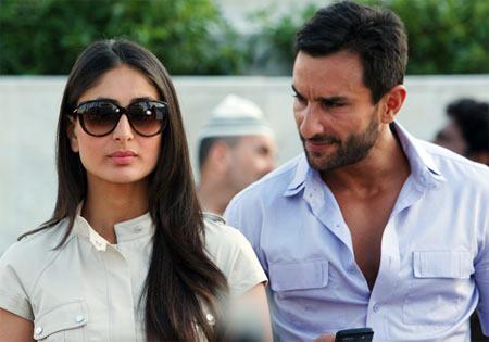 Kareena Kapoor and Saif Ali Khan in Agent Vinod