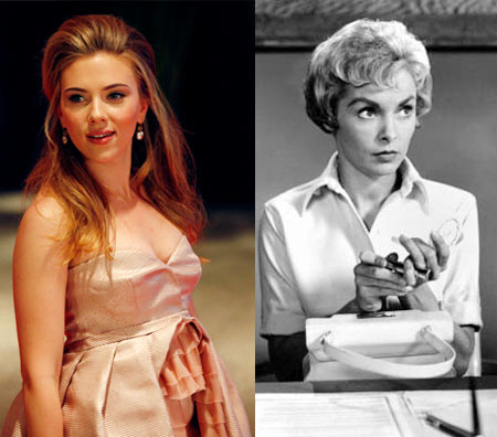 Scarlett Johansson, Janet Leigh in Psycho