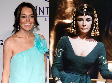 Lindsay Lohan, Elizabeth Taylor in Cleopatra