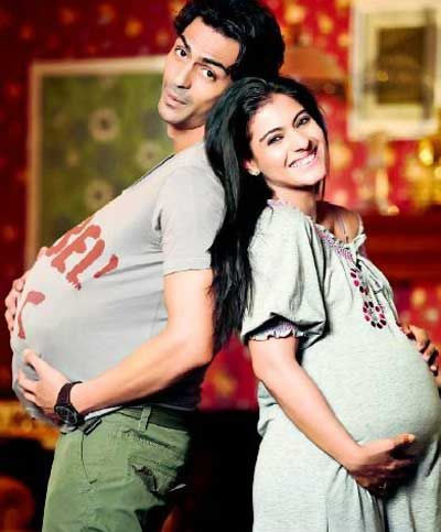 Arjun Rampal and Kajol in We Are Family
