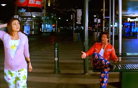 Preity Zinta and Saif Ali Khan in Salaam Namaste