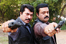 Mammootty and Suresh Gopi in The King And The Commissioner