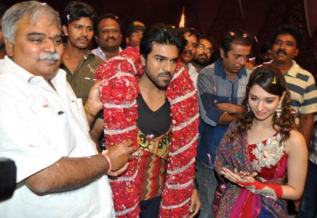 N V Prasad, Ram Charan and Tamaanah