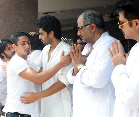 Prateik, Arjun Kapoor, Boney Kapoor and Anil Kapoor