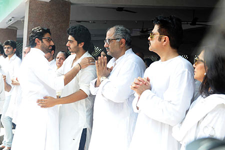 Abhishek Bachchan, Arjun Kapoor, Boney Kapoor and Anil Kapoor