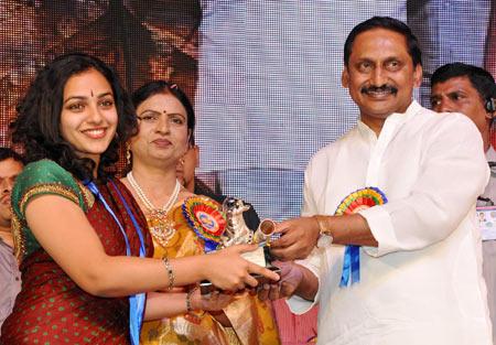 Nithya Menen, D K Aruna and Kiran Kumar Reddy