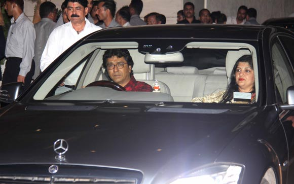 Raj Thackeray and wife Sharmila