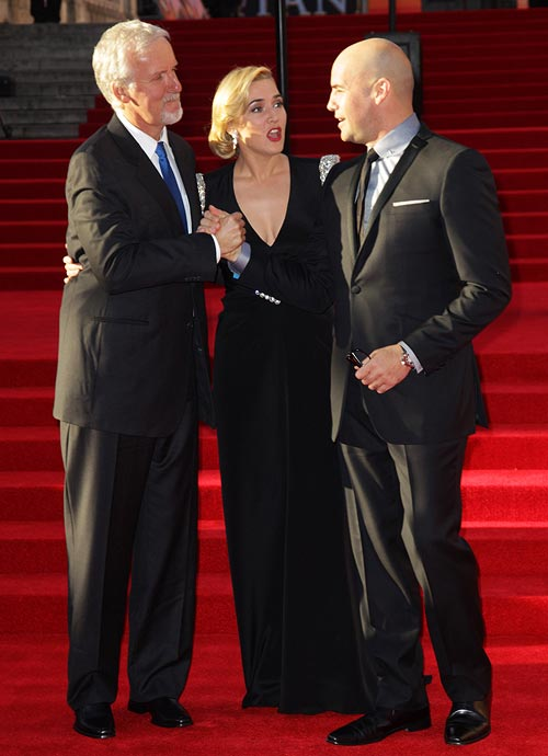 James Cameron, Kate Winslet and Billy Zane