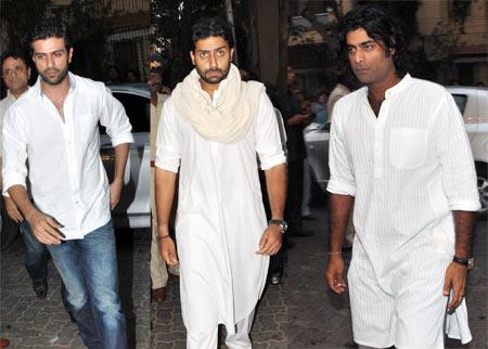 Harman Baweja, Abhishek Bachchan and Sikander Kher
