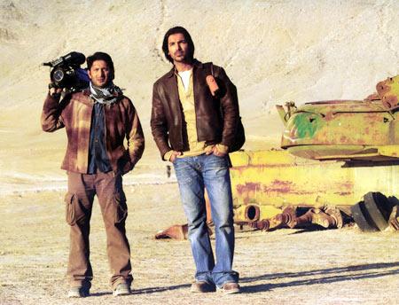 Arshad Warsi and John Abraham in Kabul Express
