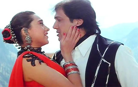 Karisma Kapoor and Govinda in Coolie No 1