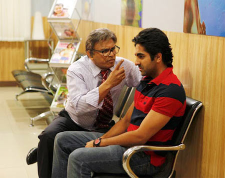 Annu Kapoor and Ayushmann Khurrana in Vicky Donor
