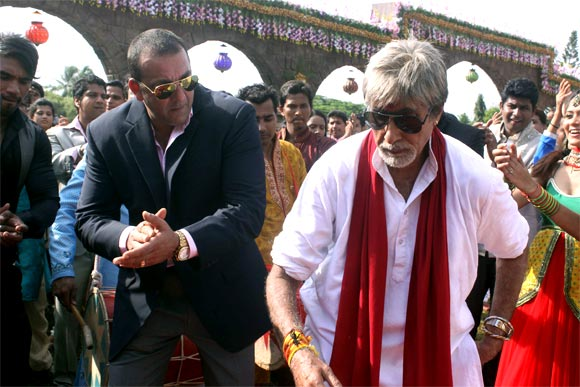 Sanjay Dutt and Amitabh Bachchan in Department