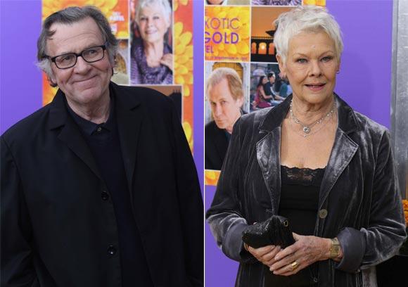 Actors Tom Wilkinson and Judi Dench