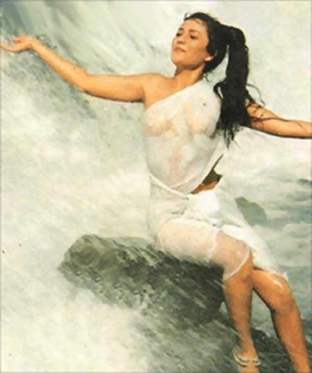 Mandakini in Ram Teri Ganga Maili