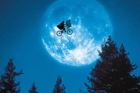 A scene from ET: The Extra Terrestrial