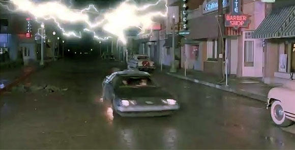 The scene from Back To The Future