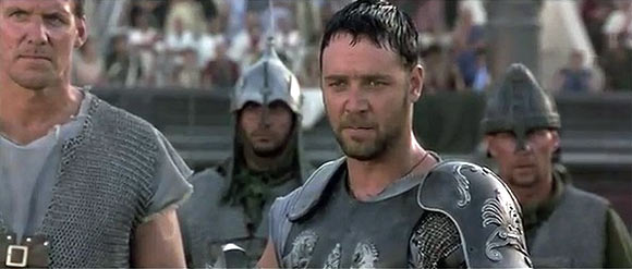 The scene from Gladiator