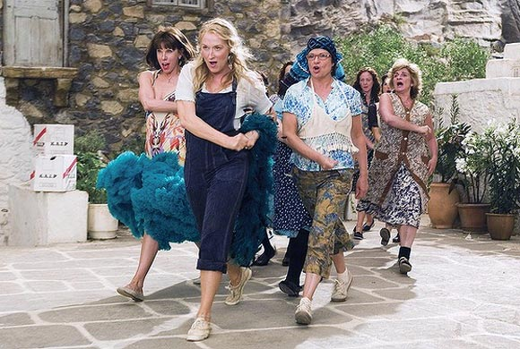 The scene from Mamma Mia!