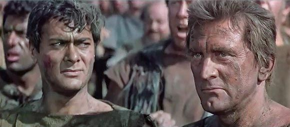 The scene from Spartacus
