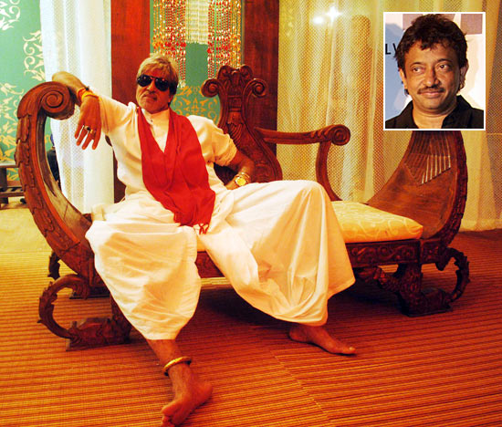 Amitabh Bachchan in Department. Inset: Ram Gopal Varma
